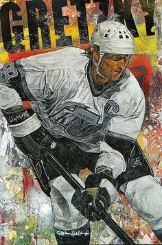 Wayne Gretzky of the Los Angeles Kings by Stephen Holland