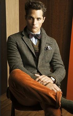 Men's Dark Green Wool Blazer, Brown Wool Waistcoat, Violet Gingham ...