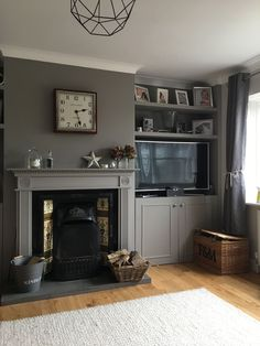 Good Free Fireplace Hearth storage Ideas – Rebel Without Applause Living Room Shelves, Alcove Ideas Living Room, Cosy Living Room, Living Room Decor Fireplace, Snug Room, Living Room Designs, Sitting Room Decor, Cottage Living Rooms, Victorian Living Room