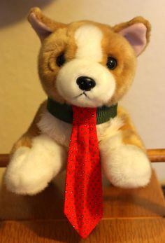 Red dog bowtie with small white square repeated pattern by PuppyPawzBoutique on Etsy