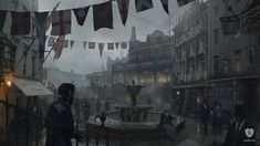 #Mayfair is an official concept artwork for the #PlayStation video game #TheOrder: 1886 by #ReadyatDawn. This Certified Art Giclee print is a hand-numbered limited edition with gold embossed game logo. The Order: 1886 is one of the most visually arresting PlayStation video games.