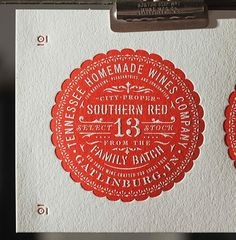 Wines labels designed for a client in Tennessee fresh off the presses at @clovestpress