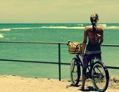 Summer. Ocean. Bikes. Beach.