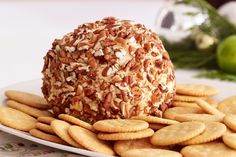 Impress all of your guests with a delicious Party Cheese Ball. Known to frequent holiday open houses, this creamy Party Cheese Ball with a nutty exterior is usually the first dish to disappear from the appetizer table! Appetizers Table, Recipes Appetizers And Snacks, Cheese Appetizers, Desserts, Cheese Ball Recipes, Creamy Cheese, Kraft Recipes, Clean Eating Snacks, Queso