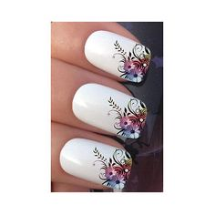DIY For Nail Art Decoration Water Transfer Manicure Tips Decals Stickers