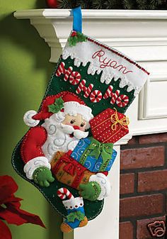 Bucilla Felt Stocking Kit this made me think of Jamie Waldrop  I'm making this one for Joel