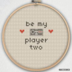 Be My Player Two Cross Stitch Pattern Instant by StitchBucket