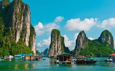 Southeast Asia Tours - Explore main highlights of Vietnam, Laos and Cambodia on this 12 day Indochina tour. Visit Hanoi and Ha Long Bay, Luang Prabang, and see Angkor Wat in Siem Reap on this 12 day cultural tour in SE Asia. Visit Vietnam, Vietnam Tours, Vietnam Travel, Hanoi Vietnam, North Vietnam, Laos, Nature Architecture, Vietnam Voyage, Ha Long Bay