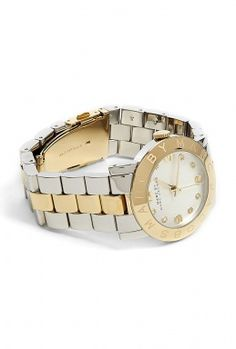 Amy Silver and Gold Link Watch by Marc By Marc Jacobs