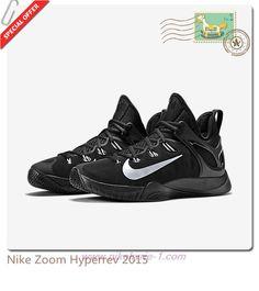 Nike Zoom Hyperrev 2015 705370-001 Black/Metallic Silver Mens Factory Outlet