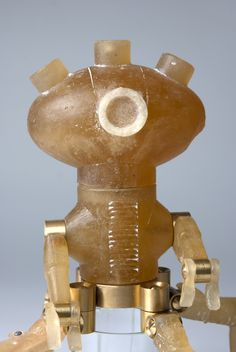 glass robot, height 35 cm #glassart #glass #glassrobot #robot #