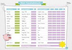 haushaltsplan mit vorlage zum download haushaltsplaner ausmisten und umzug. Black Bedroom Furniture Sets. Home Design Ideas