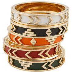 House of Harlow 1960 Aztec Bangle Bracelets