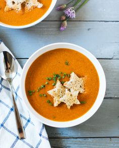 Simplest Tomato Soup with Star Toasts | A Couple Cooks