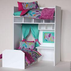 """Купить """"Румбокс"""" белый для кукоколок высотой до 30 см - кукольная мебель, кукольный дом"""