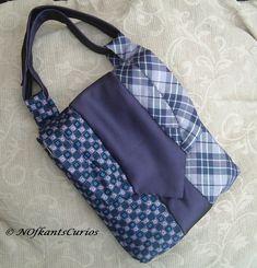 'Vertically Tied'  Silk Handbag made from Gent's Neck Ties. £16.00