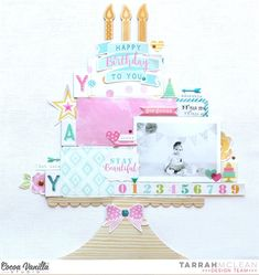 Happy Birthday To You | Cocoa Vanilla Studio - Make A Wish layout | Tarrah McLean #aussiescrappers