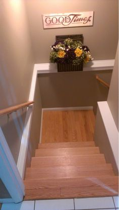 """I like this color for the basement """"Ty's man cave"""" Basement Stairwell - Home and Garden Design Ideas"""