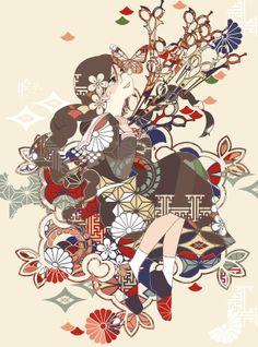Dangan Ronpa Sakura | art pixiv dangan ronpa Touko Fukawa chihiro fujisaki sakura oogami ...