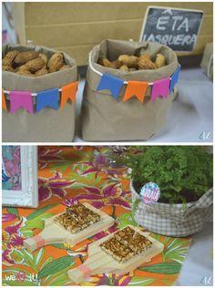 Festa junina de São João colorida | Ideias para decoração de festa junina com chita e flores