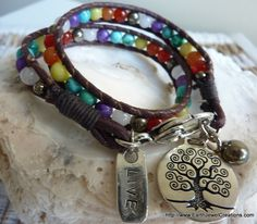 "Chakra ""Balance"" Double Wrist Wrap - handmade crystal energy gemstone jewellery Earth Jewel Creations Australia"