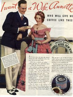 Maxwell House Coffee Ad, Saturday Evening Post, February 24, 1934