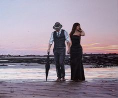 Take A Walk With Me Richard Blunt The Singing Butler, Blunt Art, For Love Or Money, Jack Vettriano, Couple Beach, Couple Art, Romantic Photos, Paintings I Love, Pulp Art
