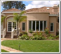 Spanish Style Stucco House