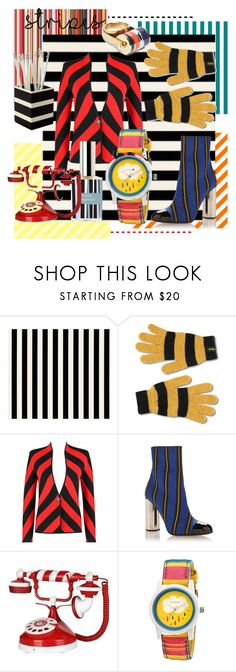 """""""stripes"""" by esrakazimoglu ❤ liked on Polyvore featuring CO, Dr. Martens, Marco de Vincenzo, Sprout and Lanvin"""