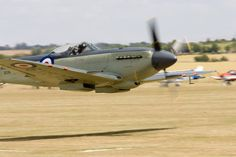 Seafire, the naval version of the Spitfire Mk9,, low pass