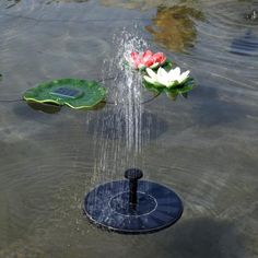 Sun Fountain - Solar Powered Pump – Emerald Seaside Fountain Head, Solar Power Batteries, Verge, Solar Roof Tiles, Water Pond, Moving Water, Lily Pond, Diy Solar, Plein Air