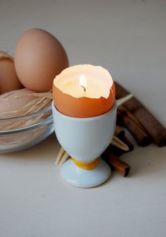 Now that #Easter is over, turn eggshells into candles!