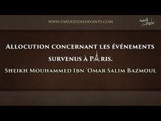 Allocution concernant les événements survenus à Paris – Sheikh Mouhammed Ibn 'Omar Salim Bazmoul | Islam Sounnah - L'Islam authentique, La Sounnah Authentique.