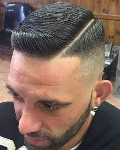 Comb Over Fade Short, Comb Over Fade Haircut, Pompadour Fade Haircut, Classic Mens Hairstyles, Boy Hairstyles, Dapper Haircut, Beard Trend, High And Tight Haircut, Hair And Beard Styles