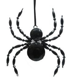 Maker's Halloween Beaded Spider Ornament-Black                                                                                                                                                                                 More