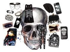 """Scene Skull Set"" by jinxstitched ❤ liked on Polyvore featuring Loungefly, Bling Jewelry, Werkstatt:München, Alexander McQueen, King Baby Studio, David & Young and Metal Mulisha"