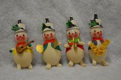 Mid-century snowmen