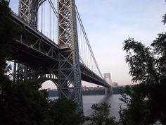 George Washington Bridge from underneath, Fort Lee NJ