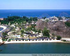 Cedar Point, Sandusky, OH on Lake Erie.