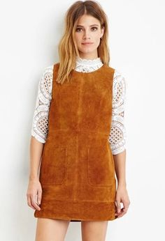 Contemporary Genuine Suede Shift Dress | LOVE21 #f21contemporary