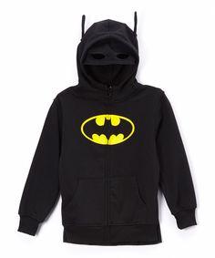 Batman Character Zip-Up Hoodie - Boys | zulily