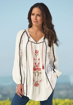 Plus Size Boho Tunic