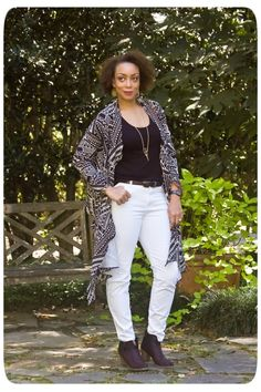#ThrowbackThursday Pattern: Vogue 8138 | A Bold & Graphic Cardi Wrap! | Erica B.'s - D.I.Y. Style!