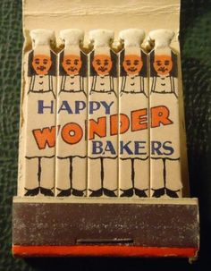 Vintage Matchbook - Wonder Bread #FEATURE #matchbook. To Order your business' own branded #matchbooks GoTo www.GetMatches.com or call 800.605.7331 Today!