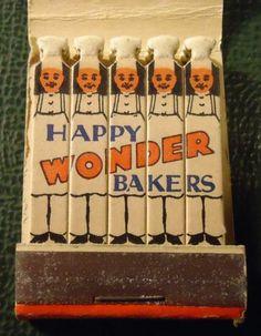 Vintage Matchbook - Wonder Bread