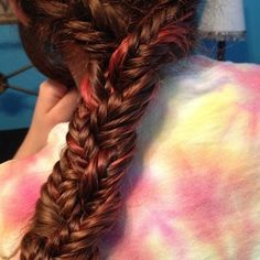 This is a braid of three fishtails combined