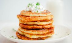 Cheesy Potato Pancakes for dinner tonight. Thyme Recipes, Veggie Recipes, Cooking Recipes, Leftover Mashed Potato Pancakes, Pancakes For Dinner, Vegetarian Cookbook, Tasty, Yummy Food, Healthy Food