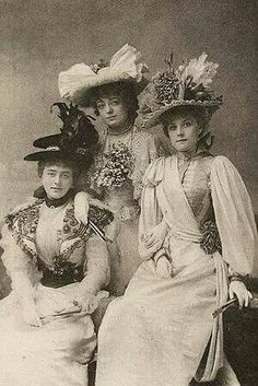 Beth Sarah and I ∴ Trios ∴ the three graces, sisters, & groups of 3 in art and vintage photos - 1890s chums