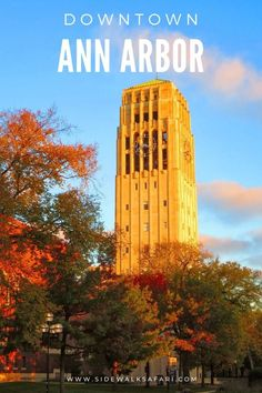 Discover Ann Arbor Michigan. Explore Downtown Ann Arbor Michigan in the  Summer, Spring, Winter, or Autumn. Learn about things to do in Ann Arbor  Michigan no matter what time of year. #Michigan #USA #AnnArbor University Of Michigan Campus, Michigan Usa, Travel Around Europe, Travel Around The World, Around The Worlds, Ann Arbor Restaurants, Rust Belt, Usa Cities, Beautiful Buildings