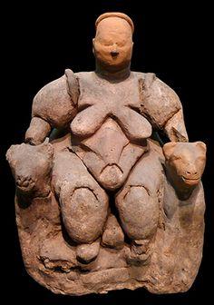 Seated Woman of Çatalhöyük (head is a restoration), The Museum of Anatolian Civilizations, Ankara, Turkey (photo: Nevit Dilmen, CC BY-SA 3.0)